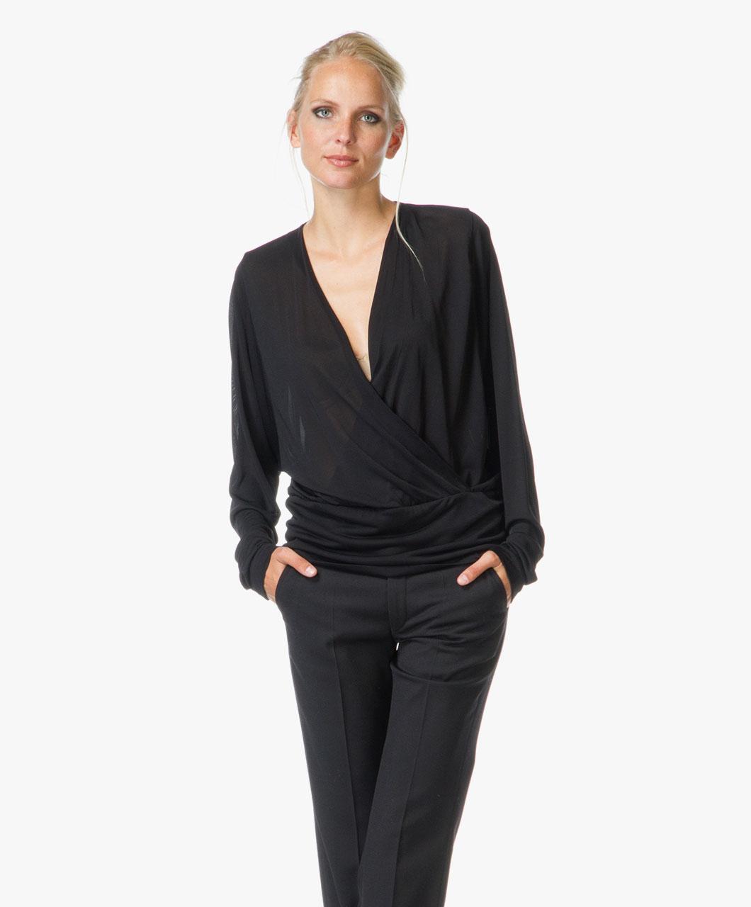 filippa k silk wrap blouse