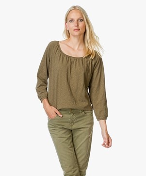 Ba&sh Loren Cotton T-shirt - Khaki