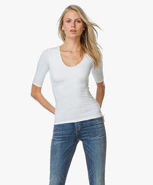 T by Alexander Wang T-shirt With Back Slit - Wit