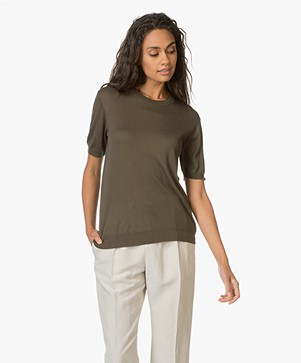 Theory Top Tolmaya in Silk and Cashmere Blend