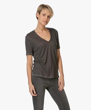 Drykorn Casa Linen T shirt Antracite