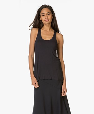 Majestic Tank Top in Viscose Jersey - Marine