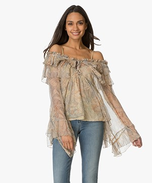 Mes Demoiselles Palmiste Off-shoulder Blouse