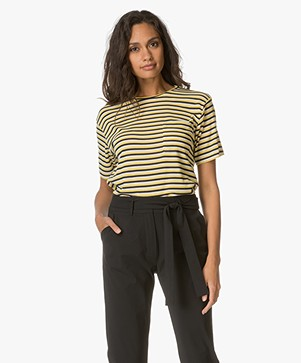 Anine Bing Striped Tee - Yellow
