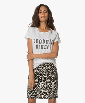 Ragdoll LA Vintage T-shirt Ragdoll Muse - Optic Wit
