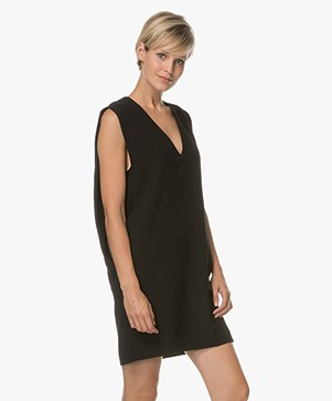 IRO Fogo Sleeveless Crepe Tunic - Black