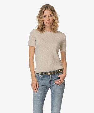 Theory Tolleree Cashmere Top - Light Heather Clay