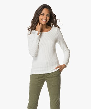 Josephine & Co Anouk Gestructureerde Long Sleeve - Off-white