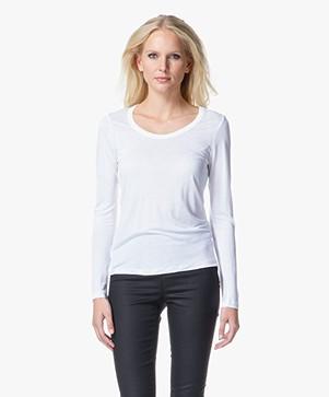 Filippa K Tencel Long Sleeve Top - White