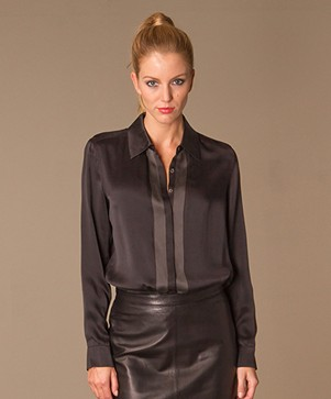 Repeat Silk Two-Tone Shirt