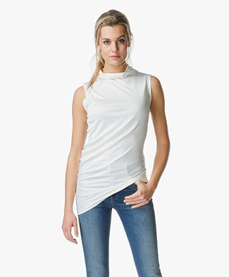 Joseph Asymmetric Silk Top - Off-White