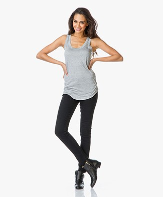 Joseph Basic Pocket Tank Top - Grey Chine