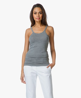 T by Alexander Wang Modal Spandex Cami Tanktop - Heather Grey