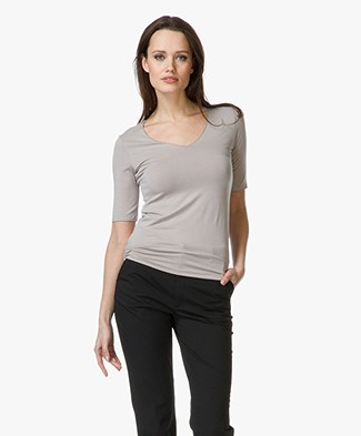Majestic Soft V-neck T-shirt