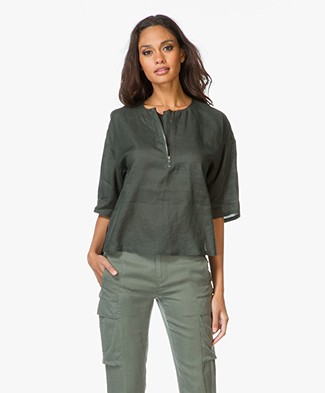 Theory Bursley Ramie Top