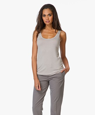 Majestic Soft Basic Round Neck Tank Top