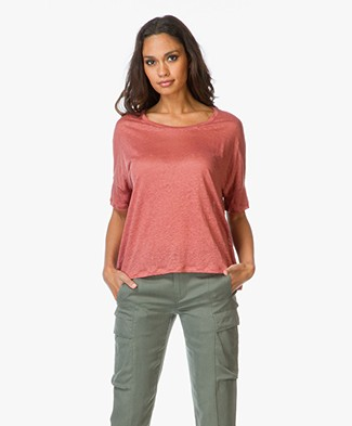 Majestic Linen Boxy Top