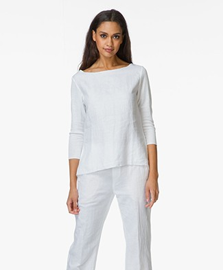 Majestic Boatneck Top in Cotton and Linen