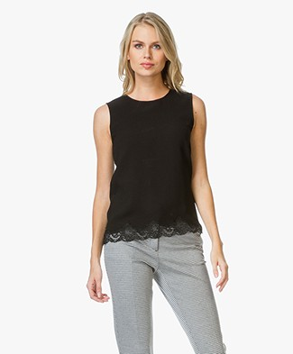 Theory Alshvee Top with Lace - Black