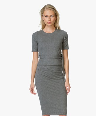 Josephine & Co Jersey Jamin Top - Anthracite
