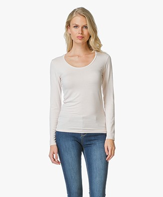 Majestic Long Sleeve Basic R-Neck T-Shirt
