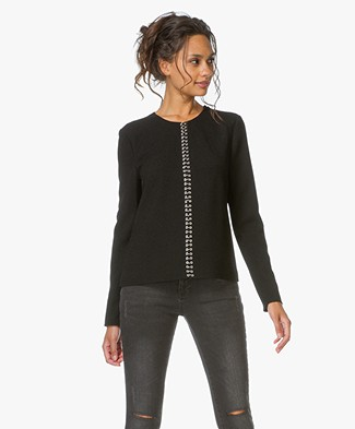 Alexander Wang Long Sleeve Top - Black