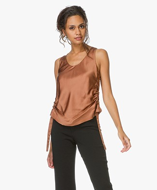 Helmut Lang Side Strap Tank in Silk - Autumn