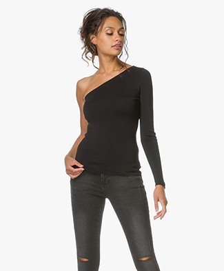 Theory One-Shoulder Top Uleera - Black