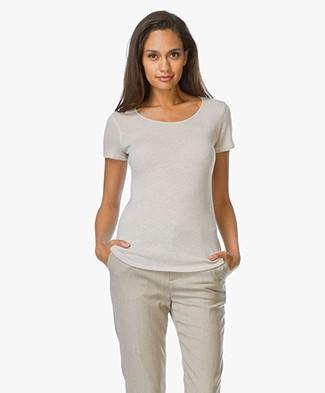 Majestic Cashmere Round Neck Top