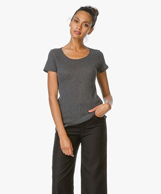 Majestic Cashmere Round Neck T-Shirt
