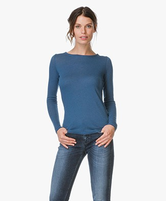 Majestic Cotton-Cashmere Long Sleeve