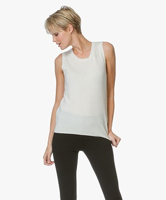 Repeat Cashmere Sleeveless Pullover - Cream