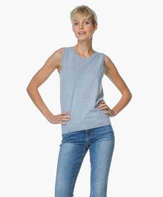 Repeat Cashmere Sleeveless Pullover - Sky
