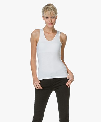 T by Alexander Wang Tank Top With Back Slit - White