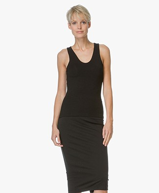 T by Alexander Wang Tank Top With Back Slit - Black