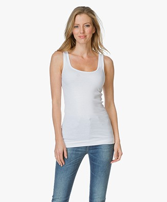 By Malene Birger Ribbed Tanktop Newdawn - Pure White
