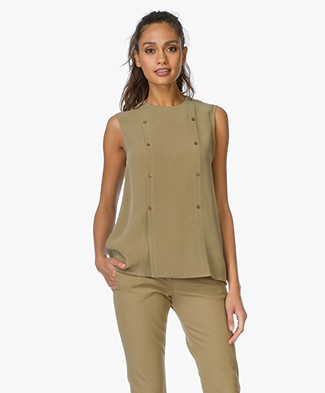 Joseph Bell Silk Top - Army