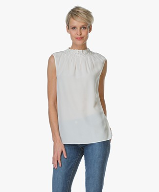 Joseph Gill Sleeveless Silk Top - Off-white