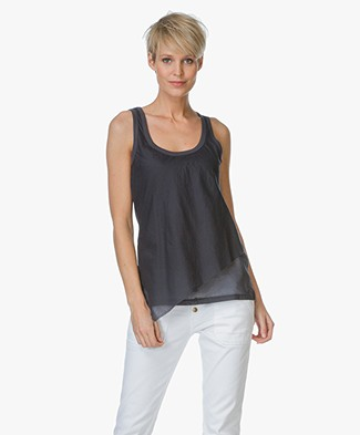 Majestic Sleeveless Asymmetric Tank Top - Ombra