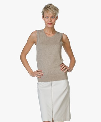 Repeat Sleeveless Pullover - Clay
