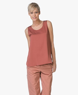Repeat Basic Silk Top - Brick