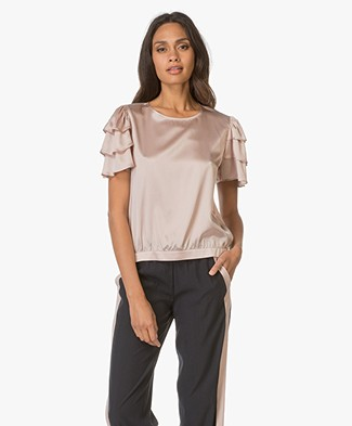 Anine Bing Frill Sleeve Top - Rose