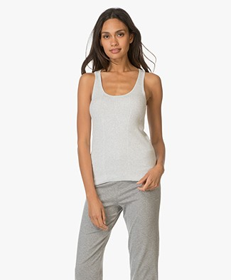 Filippa K Rib Cotton Tank Top - Light Grey