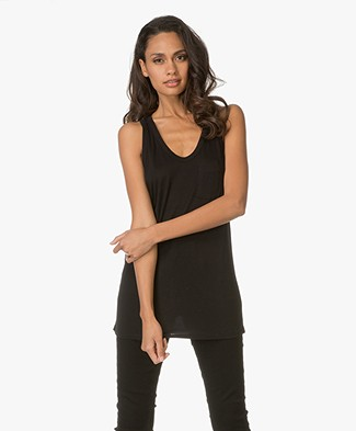 T by Alexander Wang Classic Tank with Pocket - Black
