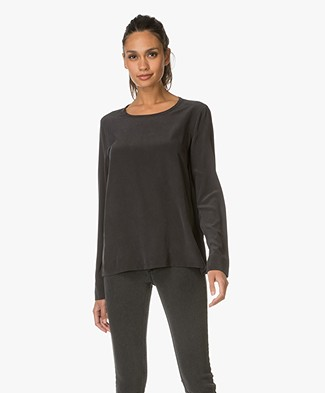 Equipment Liam Silk Top - Black
