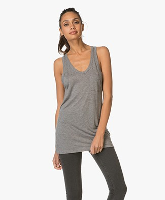 T by Alexander Wang Classic Tank with Pocket - Heather Grey