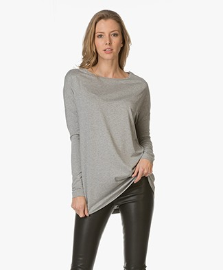 By Malene Birger Jersey Tunic Alloi - Grey Melange