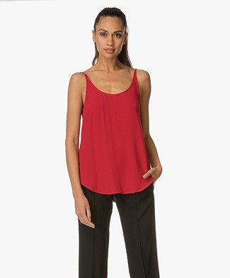 Ba&sh Figue Reversible Crêpe Top - Rouge