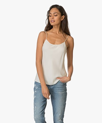 Theory Teah Silk Top - Ivory