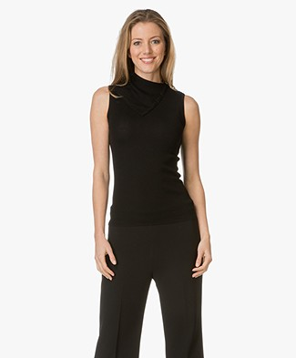 Theory Sleeveless Top with Turtleneck - Black